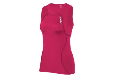 2XU Sleeveless Compression Singlet ACTIVE TRI Pink Women