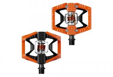 CRANKBROTHERS Paire de Pédales DOUBLE SHOT 2 Orange Noir
