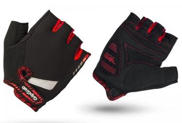 Gripgrab gants courts supergel noir rouge s