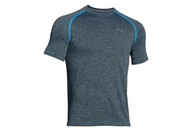 under armour maillot manches courtes tech gris bleu xs