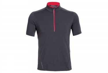 icebreaker maillot manches courtes strike gris l