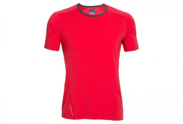 icebreaker maillot manches courtes strike rouge m