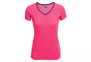 icebreaker maillot manches courtes femme spark rose xs
