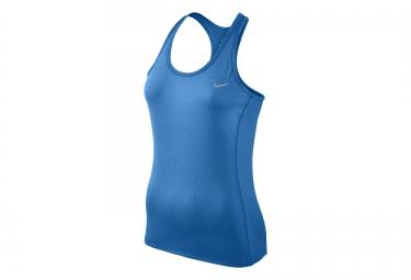Nike debardeur dri fit contour bleu femme m