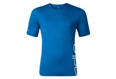 odlo t shirt manches courtes event t bleu l