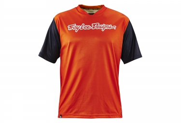 Troy lee designs maillot manches courtes skyline orange s