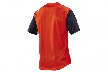 troy lee designs maillot manches courtes skyline orange xl