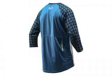 troy lee designs maillot manches 3 4 ruckus bleu gris m