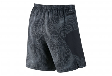 NIKE Short 2-en-1 PURSUIT PRINTED 2-in-1 18cm Noir Homme