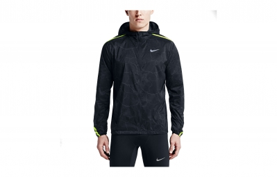 NIKE Veste Coupe Vent IMPOSSIBLY LIGHT CRACKLED Noir Homme