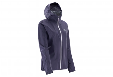 salomon veste coupe vent bonatti nightshade gris femme xs