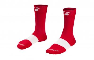 bontrager paire de chaussettes race 13cm rouge 36 39