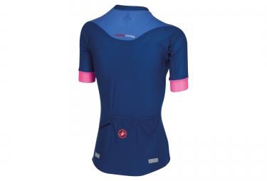 castelli maillot manches courtes femme aero race bleu rose l