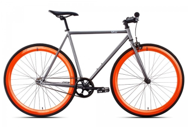 6KU Vélo Complet Fixie BARCELONA Gris Orange