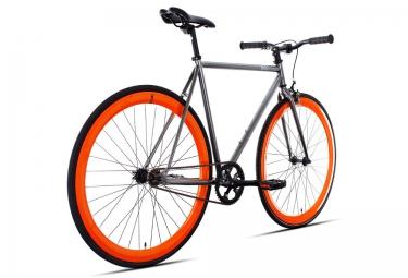 6KU Vélo Complet Fixie BARCELONA Gris Orange