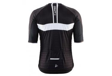 craft maillot manches courtes gran fondo noir blanc m