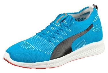 puma paire de chaussures ignite proknit bleu blanc rouge 44