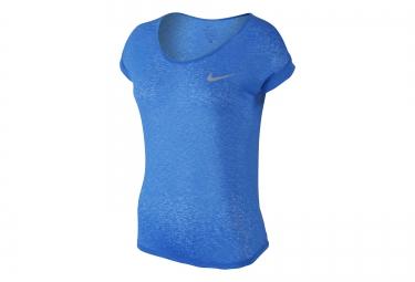 Nike debardeur dri fit cool breeze bleu femme s