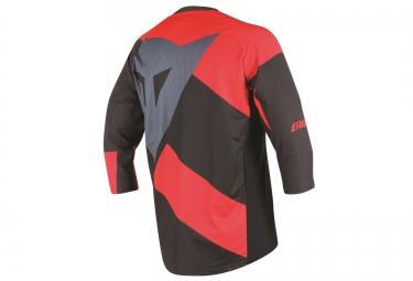 dainese maillot manches 3 4 trailtec rouge noir xl
