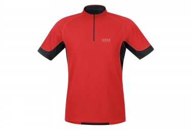 gore running wear maillot x running 2 0 rouge s