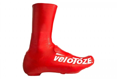 Velotoze couvres chaussures haute t red 002 latex rouge 40 42
