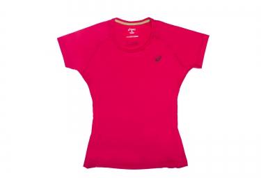 Asics maillot fujitrail ultra rose femme m