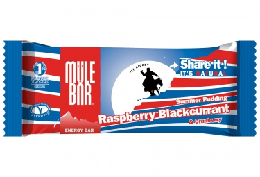 MULEBAR Barre Energétique SUMMER PUDDING (Framboise-Cassis-Cranberries) 40g