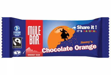 mulebar barre energetique chocolat orange 40g