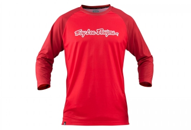 troy lee designs maillot manches 3 4 ruckus rouge s