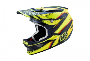 casque integral troy lee designs d3 carbon reflex 2016 jaune noir m 56 57 cm