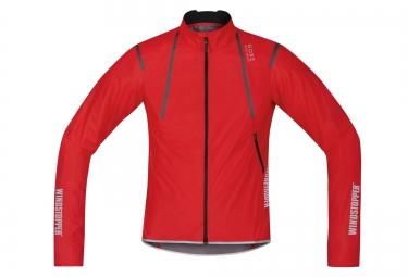 gore bike wear veste oxygen windstopper active shell light rouge m