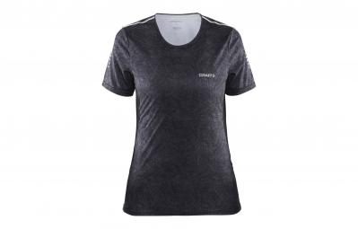 Craft t shirt femme mind gris raye noir m