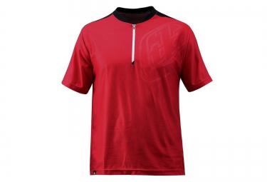 troy lee designs maillot manches courtes skyline race rouge noir s