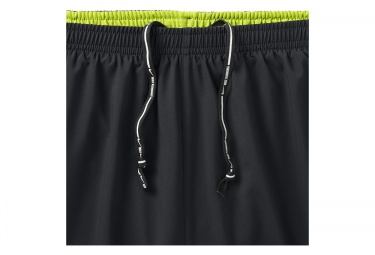 Short 2-en-1 Homme NIKE PURSUIT 18cm Noir Jaune