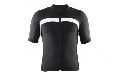 craft maillot velo noir blanc xl