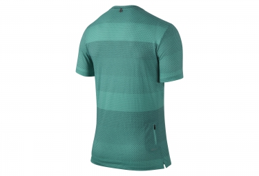 NIKE Maillot DRI-FIT COOL STRIPE TAILWIND CREW Bleu Homme