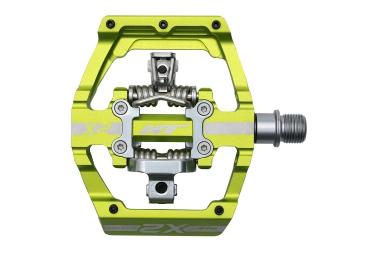 ht paire de pedales automatiques x2 vert