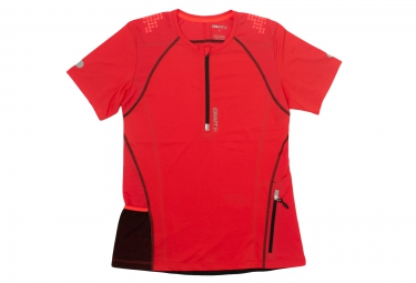 Craft maillot femme manches courtes trail rouge l