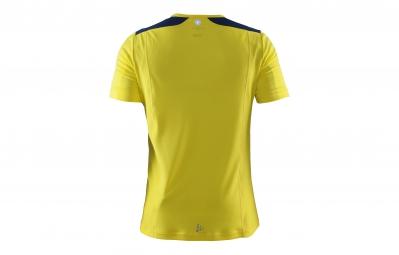 CRAFT T-Shirt Homme DEVOTION Jaune Bleu marine
