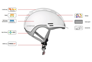 Casque CASCO ROADSTER-TC Blanc Argent