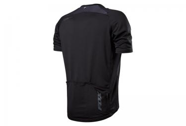fox maillot manches courtes aircool zip noir s