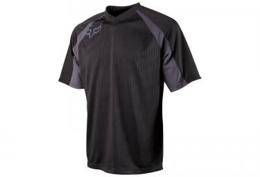 fox maillot flow jersey noir s