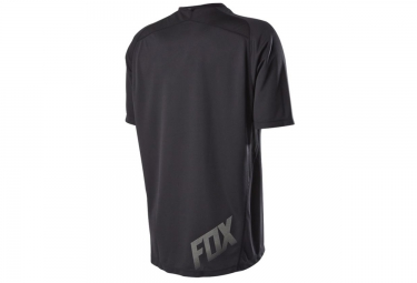 fox maillot manches courtes indicator noir s