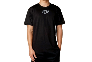 fox tee shirt manches courtes tournament noir blanc l