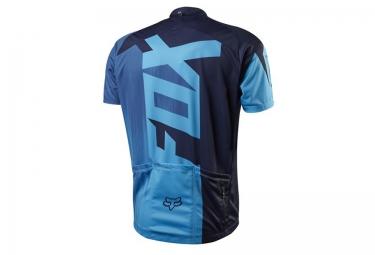 fox maillot manches courtes livewire race bleu s