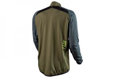 fox maillot manches longues equilibrium vert gris s