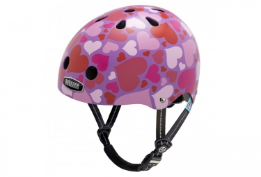 Casque Bol Enfant NUTCASE LITTLE NUTTY Rose Rouge