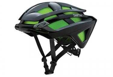 smith casque overtake noir mat vert m 55 59 cm