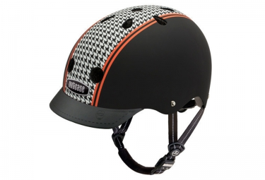 Casque Bol NUTCASE STREET Noir Blanc Orange Mat