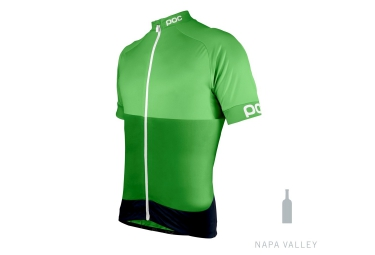 poc maillot manches courtes fondo vert xs